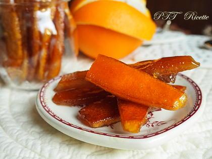 Scorzette di arancia caramellate