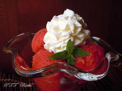 Sorbetto di fragole