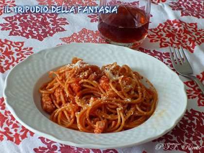 Spaghetti integrali all'amatriciana
