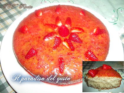 Torta allo yogurt con fragole