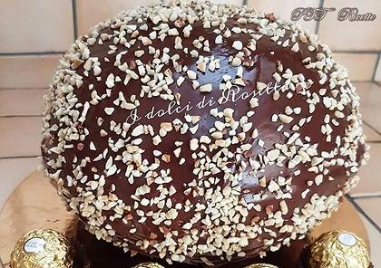 Torta Rocher farcita con crema al mascarpone