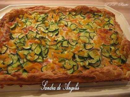 Torta salata con zucca e zucchine