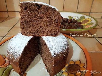 Torta soffice di castagne e cioccolato