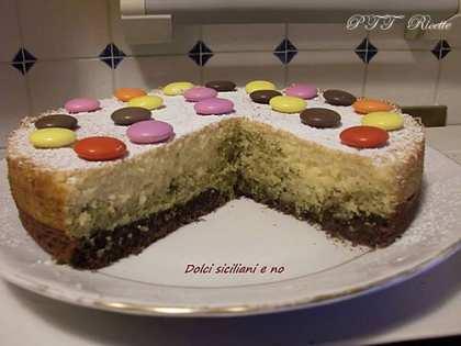 Torta Tre gusti, arancia, cacao, pistacchio