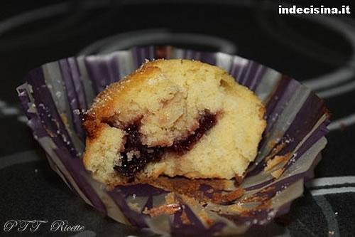 Muffin alla confettura di ciliegie 7