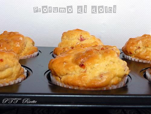 Muffin salati al cotto e pomodori secchi 1