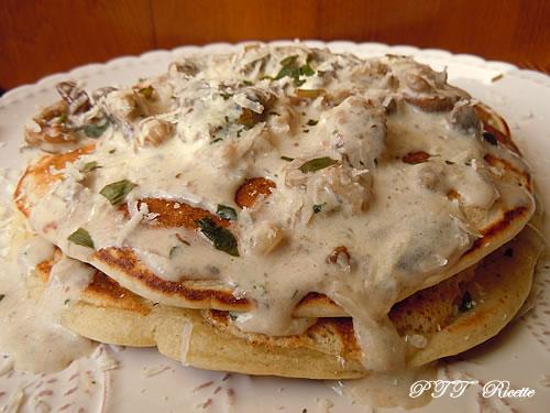 Pancakes salati con funghi 3