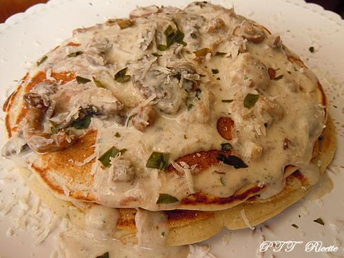 Pancakes salati con funghi
