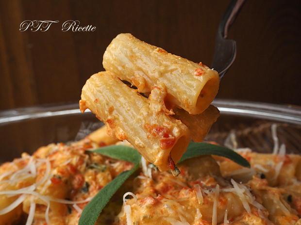 Pasta con crema di peperoni 9