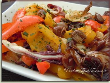 Peperoni in padella con radicchio 1