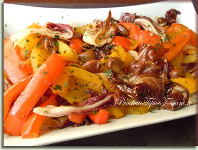 Peperoni in padella con radicchio 2