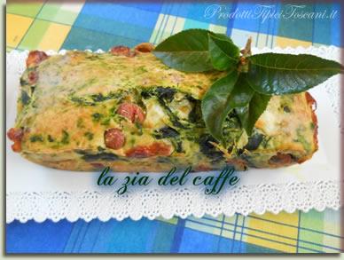 Plumcake con spinaci e wurstel