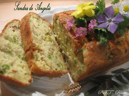 Plumcake salato con carciofi e piselli