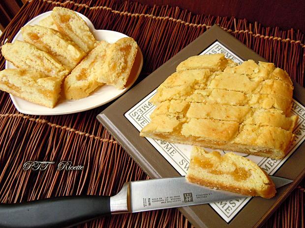 Rotolo di frolla senza glutine e senza burro con marmellata 14