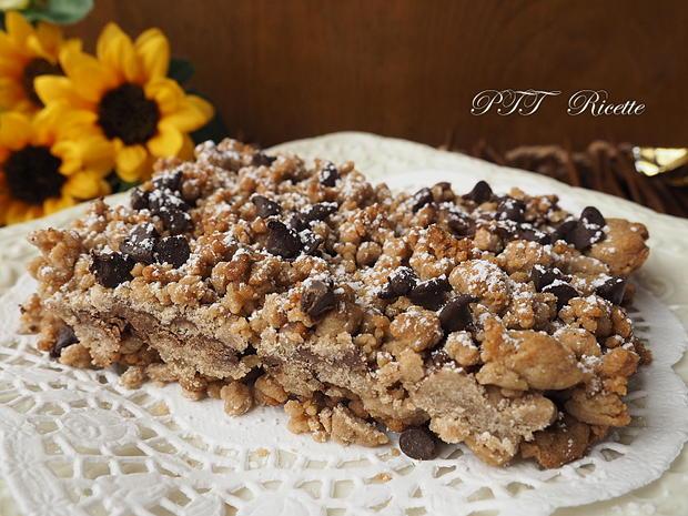 Sbriciolata di castagne e cioccolato senza glutine 9