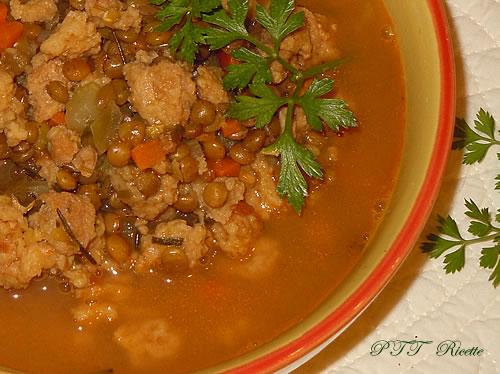Spezzatino di soia e lenticchie