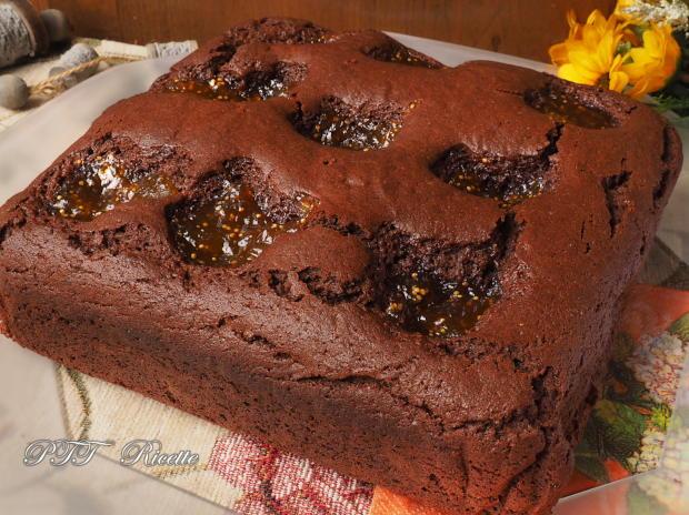 Torta al cacao e confettura di fichi 6