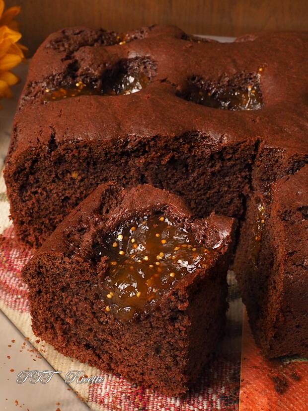 Torta al cacao e confettura di fichi 8