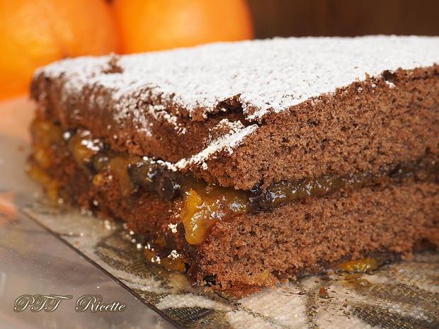 Torta al cacao senza glutine con marmellata 7