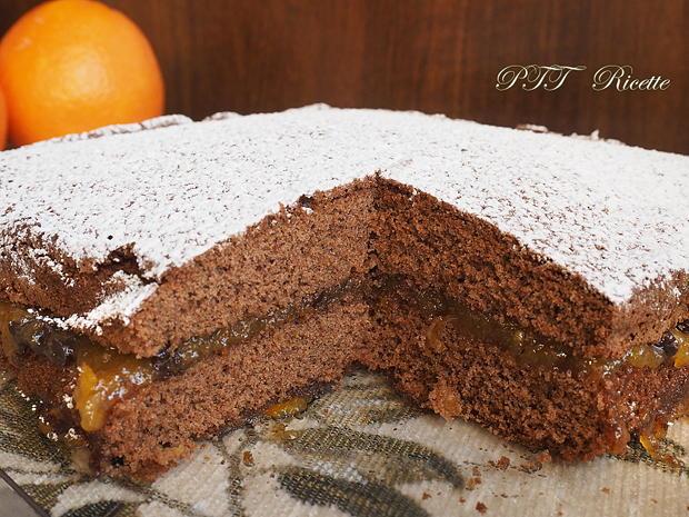 Torta al cacao senza glutine con marmellata 8