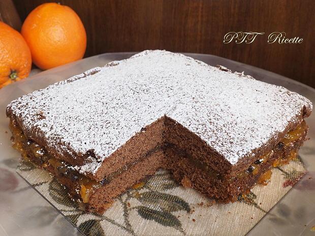 Torta al cacao senza glutine con marmellata 9