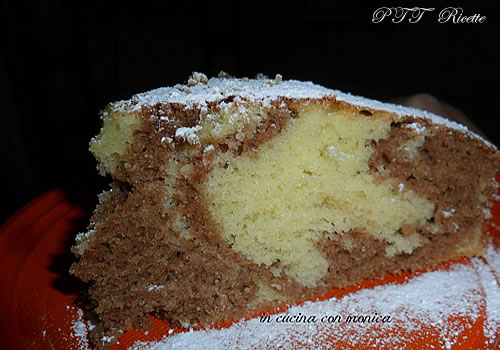 Torta all'acqua bicolore 1