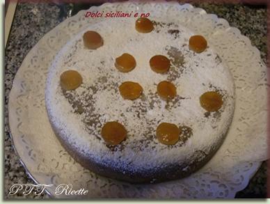 Torta con gocce di cioccolato all'essenza all'arancia 1