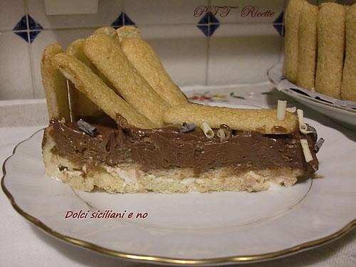 Torta con Pavesini, panna, Philadelphia e Nutella 2