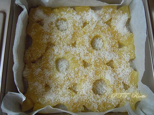 Torta di ananas e cocco, senza olio e senza burro 2