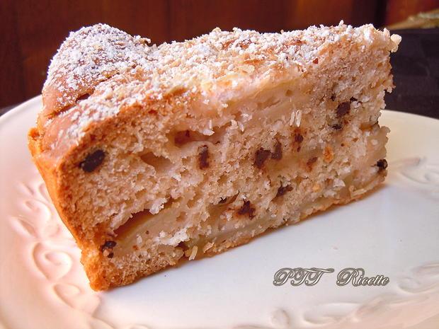 Torta di mele light con cocco e cioccolato 13