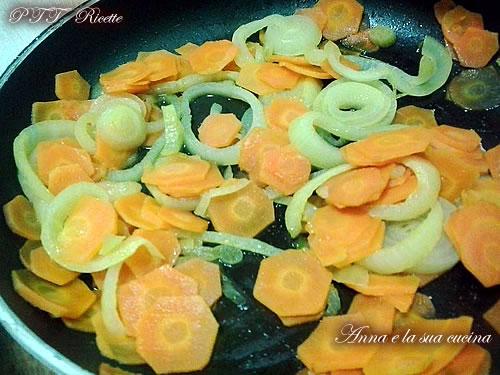 Torta di patate, carote e cipolle 7