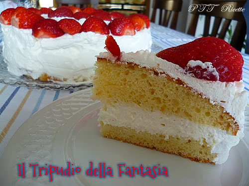 Torta di yogurt alle fragole 1