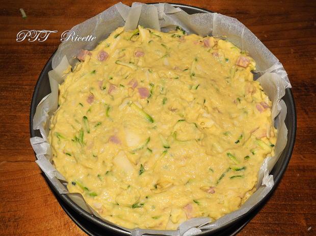 Torta di zucchine con cotto e formaggio 6