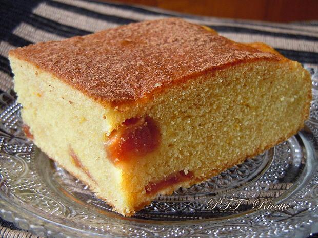 Torta dietetica pesche e cannella