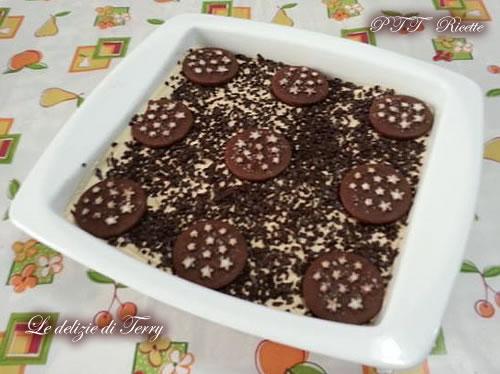 Torta Pan di stelle con crema coppa del nonno e Nutella