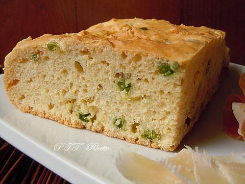 Torta salata con piselli e scalogni 4