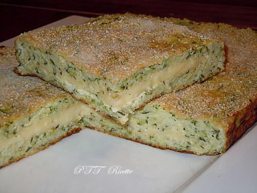Torta salata con ricotta, zucchine e formaggio 1
