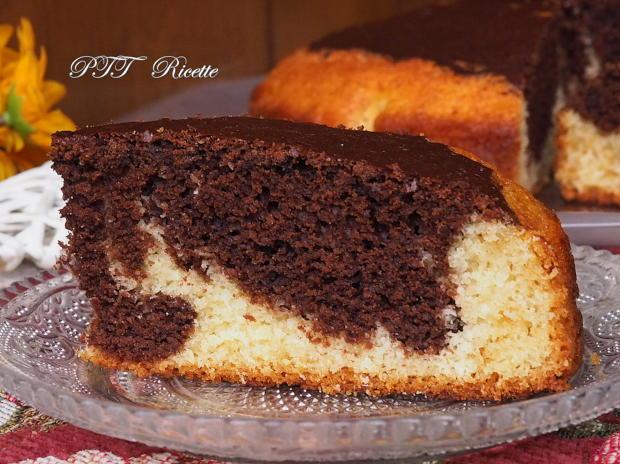 Torta soffice bicolore cacao e cocco