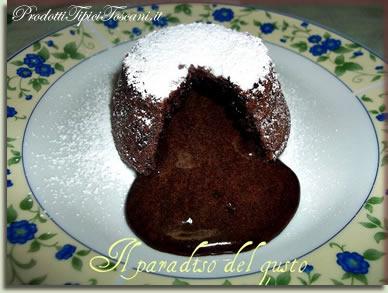 Tortino cuore caldo di cioccolato fondente