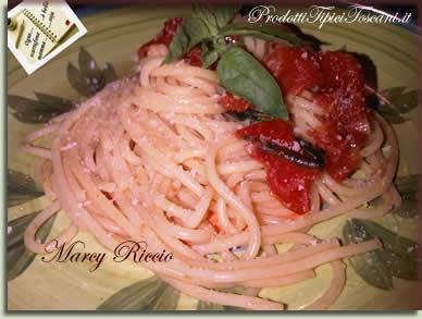Vermicelli con pomodorini e basilico