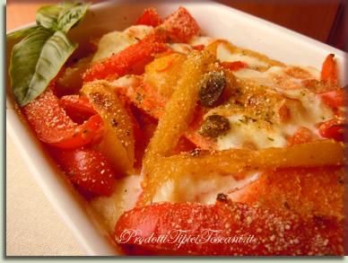 Zucca al forno con peperoni