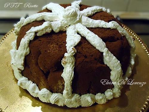 Zuccotto con crema al cioccolato bianco