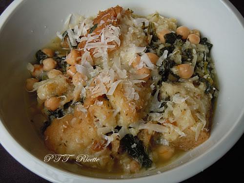 Zuppa con ceci, spinaci e pane 1